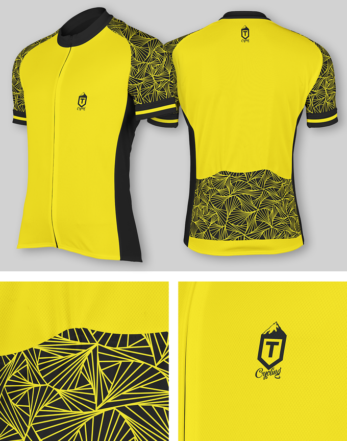 Triangles Jersey - Yellow / Yellow