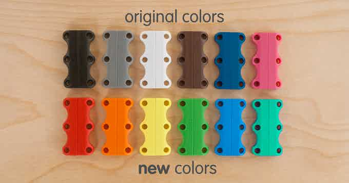 NEW COLORS - Match your shoes or make your Zubits closures stand out. After the campaign ends you will be sent a survey asking what size and color you want. ALL 12 COLORS WILL BE AVAILABLE FOR THIS CAMPAIGN.