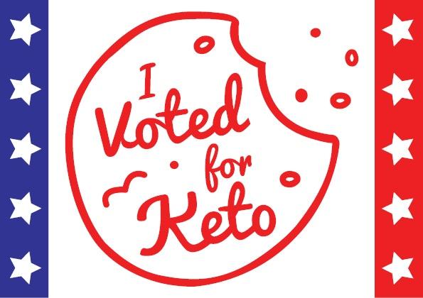"""I Voted for Keto"" Digital Banner"
