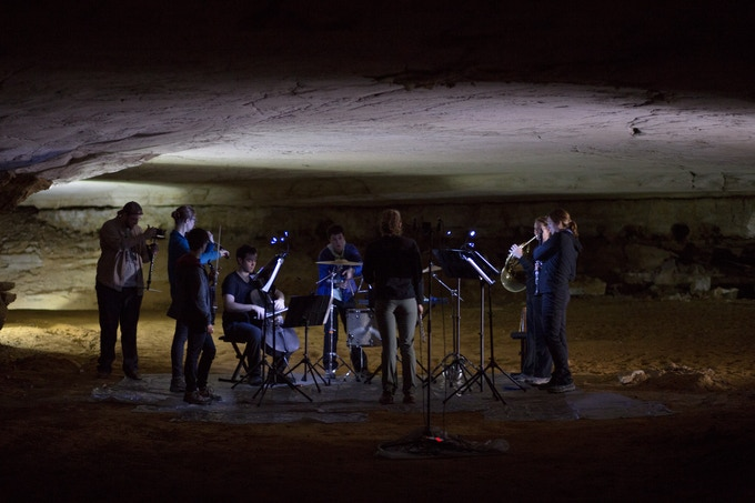"""Recording deep underground at Mammoth Cave's """"Marion Avenue"""""""