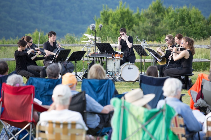 Performing at Purchase Knob in the Smokies