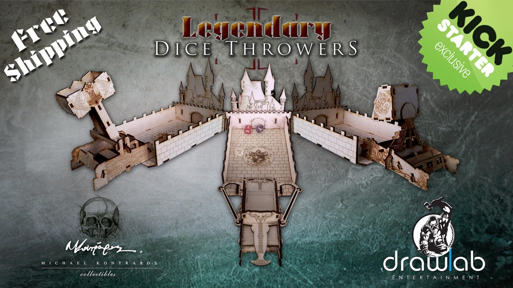 Legendary Dice Throwers- the evolution of dice towers miniatura de video del proyecto