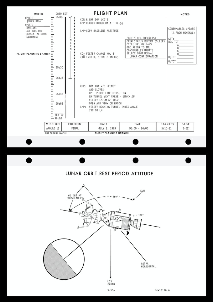 Apollo 11 Flight Plan Re-Issue by Reproduction IO