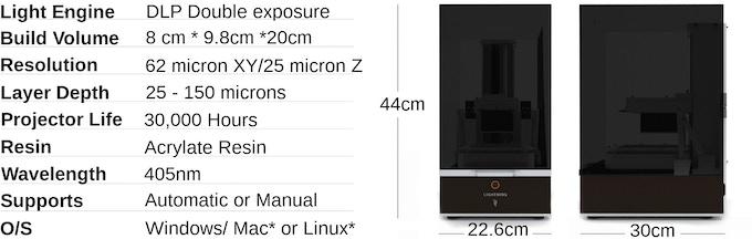 Lightning - Double Exposure, UV DLP 3D Printer by Lightning 3D