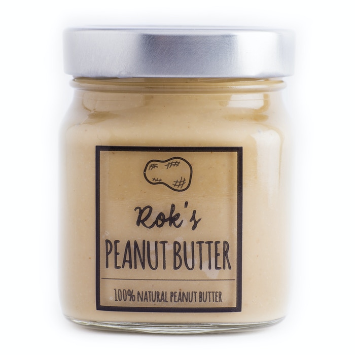 Deliciously creamy and 100% natural peanut butter. Only the finest peanuts are selected to be a part of Rok's peanut butter.