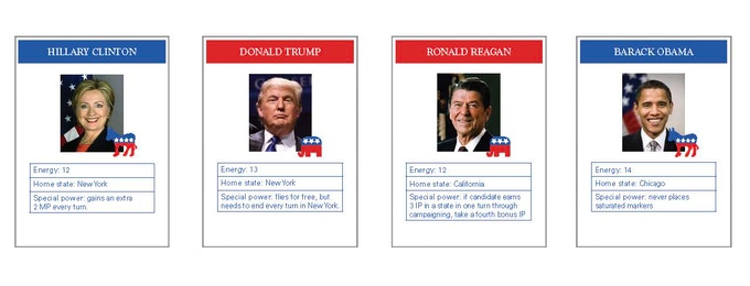 Play as a 2016 candidate or your favorite former President