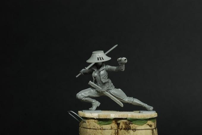 Lieutenant Ryuko (sculpted by Stephane Camosseto)