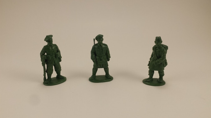 The Command team (Runnier, Lieutenant, Medic)