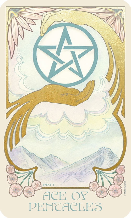 Ethereal Visions: An Illuminated Tarot Deck - Art Nouveau by