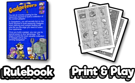 Low Ink Print and Play files for cards, tokens, and player screens! Full color manual included!