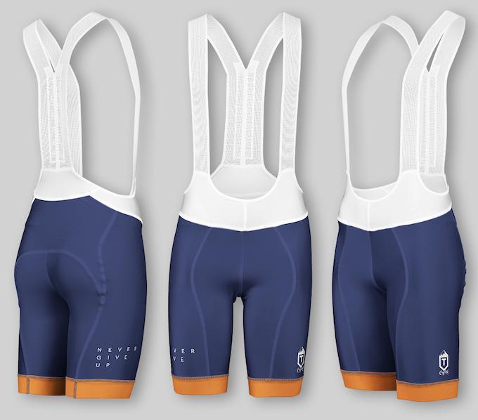 Performance Bib Shorts - Navy / Orange