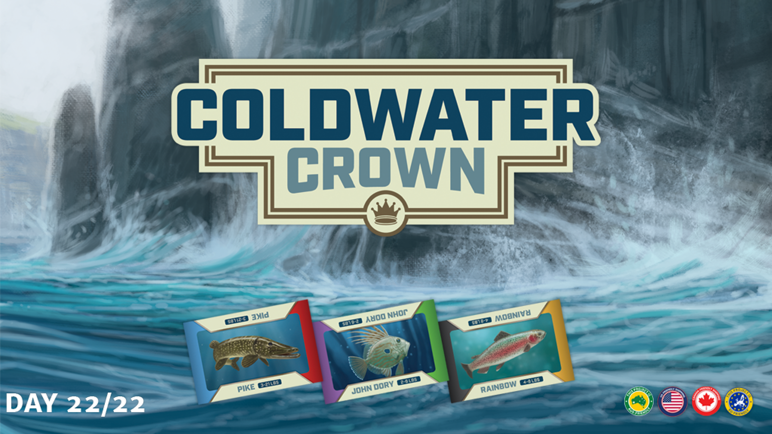 Coldwater crown a strategic fishing game by dennis hoyle for Wmat game and fish