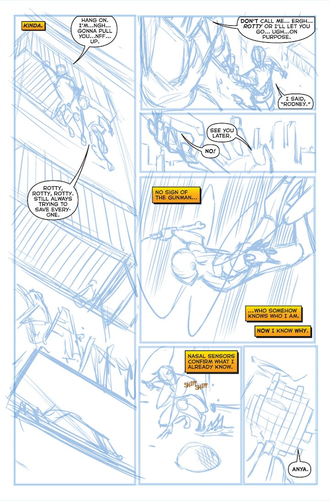 Stray #1 - Page Four WIP by Sean Izaakse