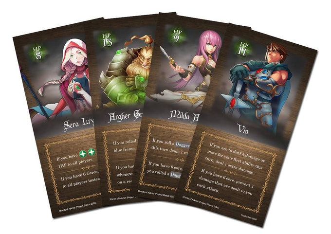 The 4 main characters in Askrias