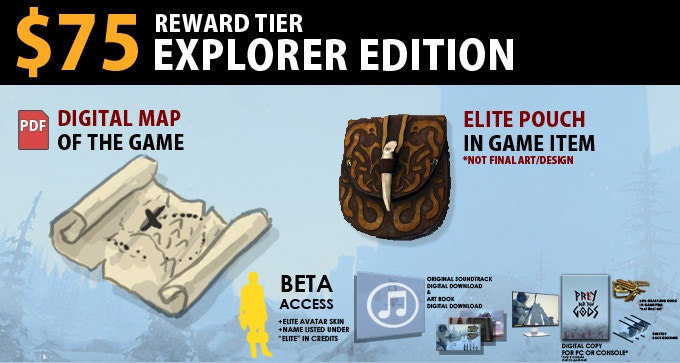 $75 Explorer Edition = Digital Map of the game, Elite Pouch In-Game Item. Includes Legion Edition.