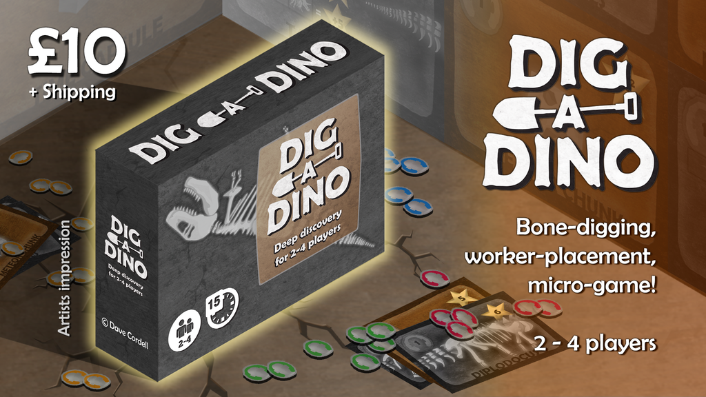Dig a Dino! The bone-digging, Worker Placement, Micro-Game project video thumbnail