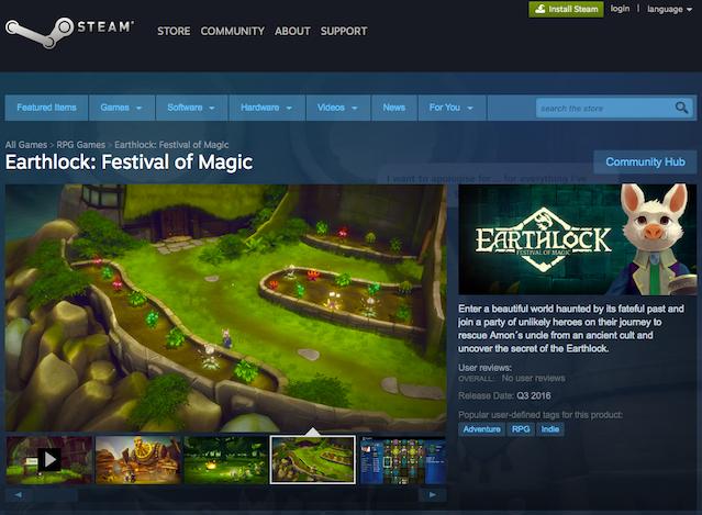 Earthlock on Steam Store