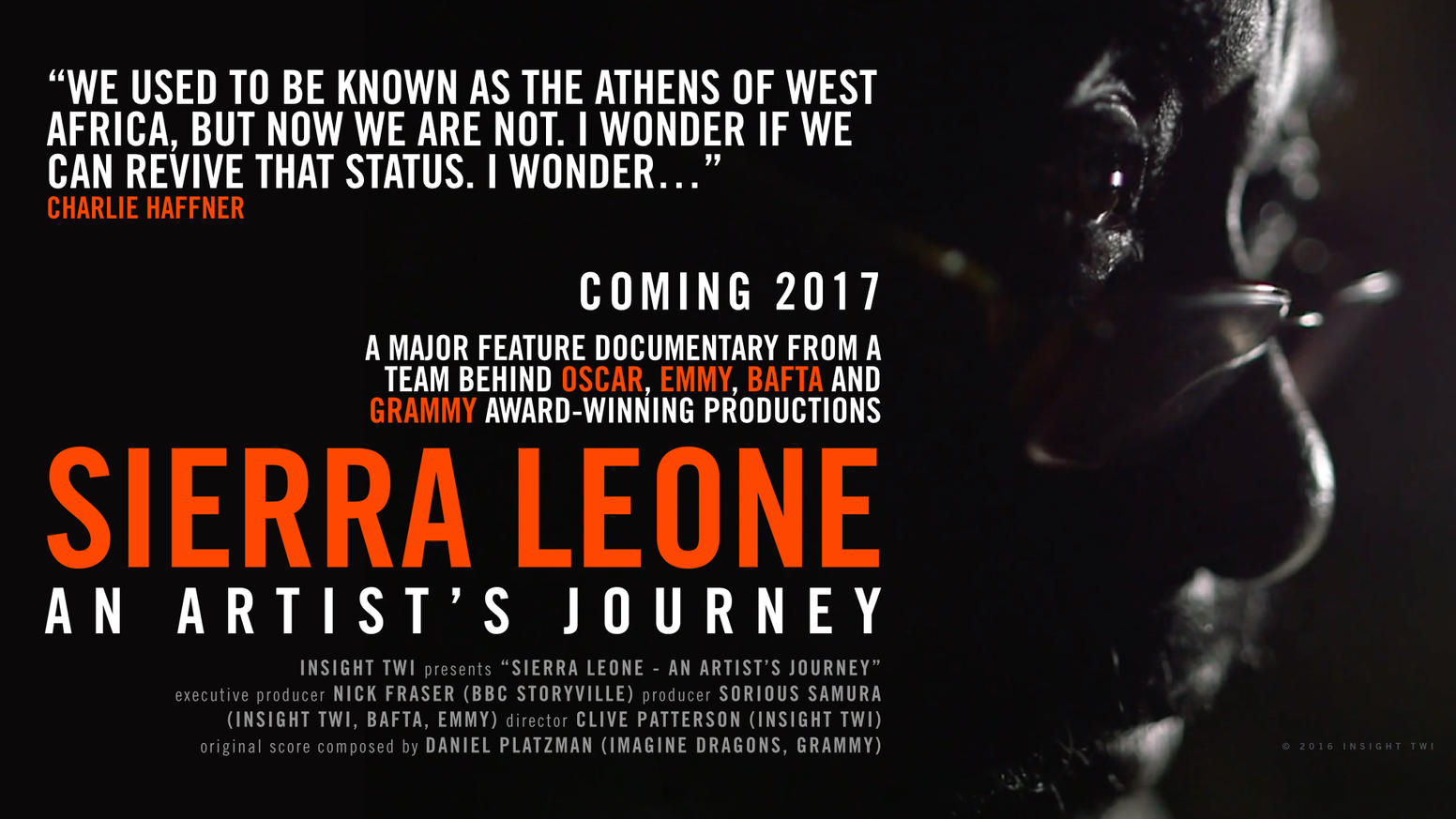 Sierra Leone: The Film is the inspiring story of a celebrated playwright and his mission to change his nation with great art.