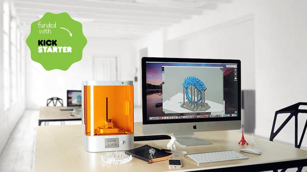 M-Jewelry - A Professional UV-LED, Wireless DLP 3D Printer