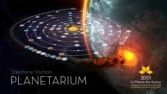 Matter swirls around a newborn star, colliding to create a unique solar system, and a beautiful board game experience.