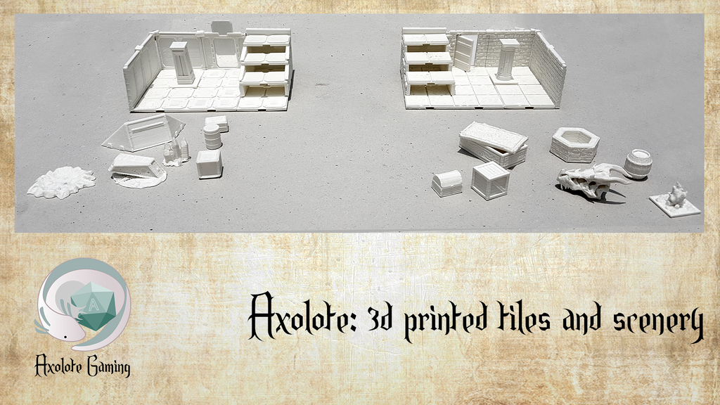 Axolote: 3d printable tiles and scenery project video thumbnail