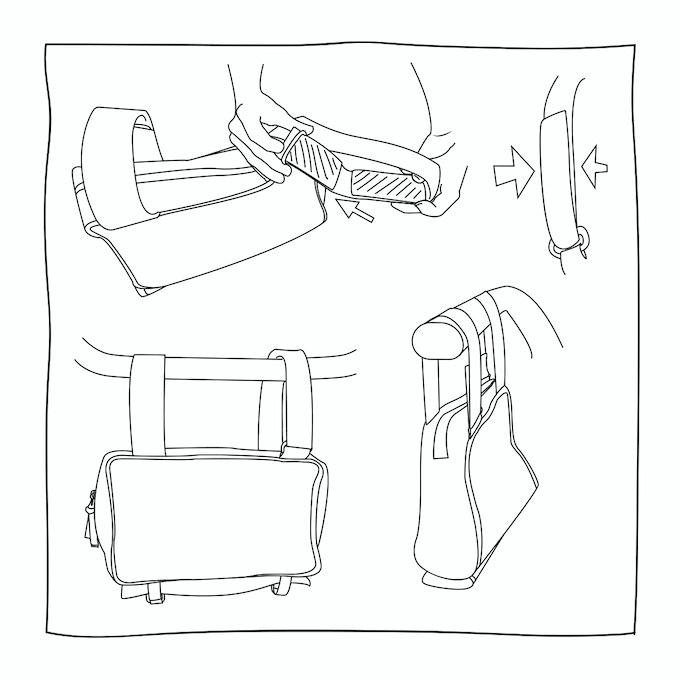 Stadtameise auf dem Kinderwagen montiert / Urban ant can be fixed easily on stroller/buggy