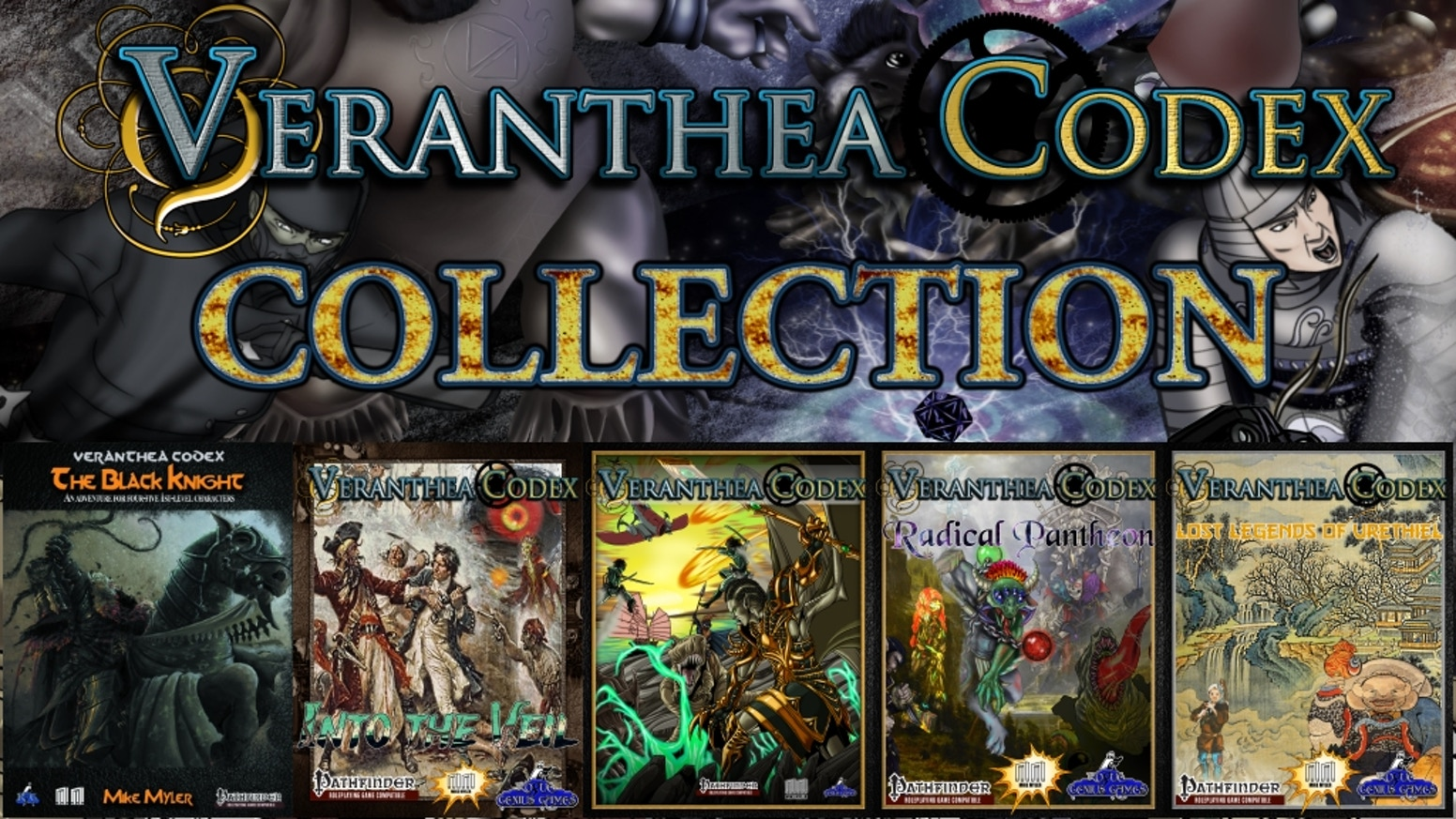 Veranthea Codex Collection: Radical Books for Pathfinder RPG