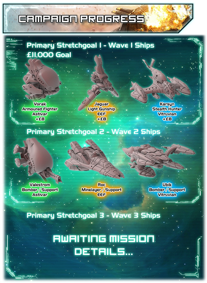 Project Updates for Shattered Void - The Sci-Fi Dogfighting Tabletop