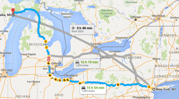 Getting there, somehow, some way (thanks Google Maps!)