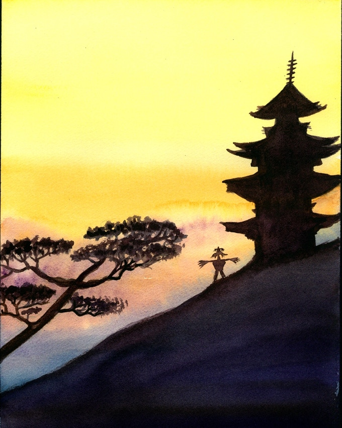Pagoda with Kuebiko by Vera Crouch