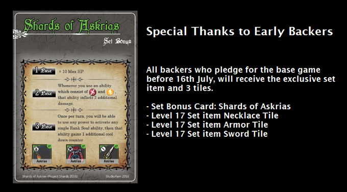 A special thank you to early backers!