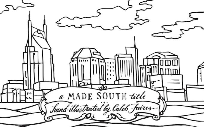 the nashville coloring book 100 made in nashville by chris thomas made south kickstarter. Black Bedroom Furniture Sets. Home Design Ideas