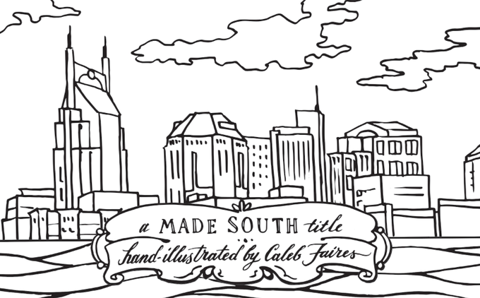 The Nashville Coloring Book 100 Made In Nashville By