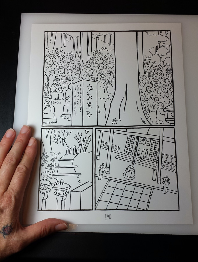 SOLD! original page of Turning Japanese by MariNaomi