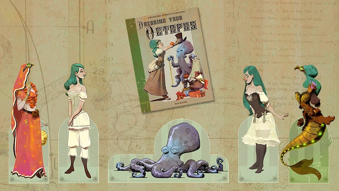 An Otto and Victoria paper doll book that empowers your imagination and unlocks your inner storyteller.