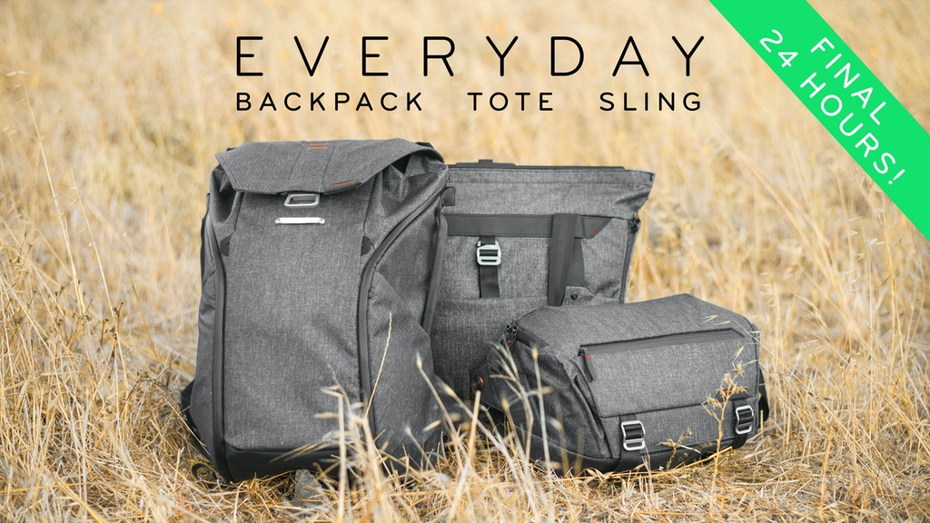 the everyday backpack tote and sling by peak design