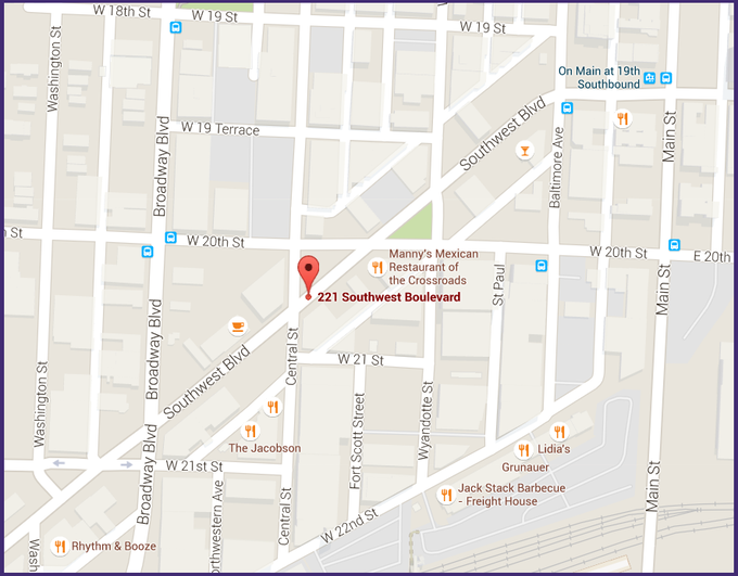 Our location - on the world famous Southwest Boulevard and in the vibrant Crossroads district!