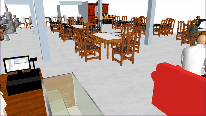 The common room, visible to all, will include a wall of games, featuring 500+ different games, and comfortable and unique furniture for players to sit in.