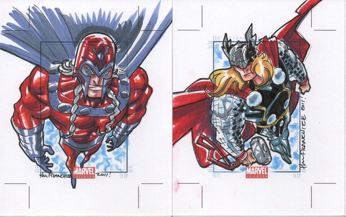 Sketchcard samples by Jerry Gaylord