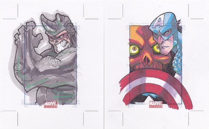 Sketchcard samples by Bryan Turner