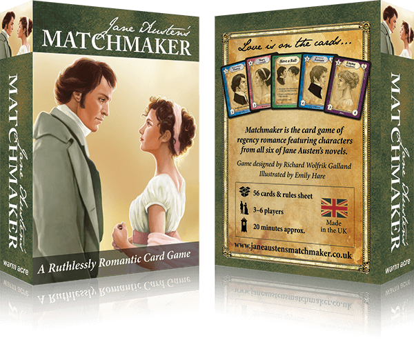 Make happy marriages for your favourite Jane Austen characters in this beautifully illustrated card game!