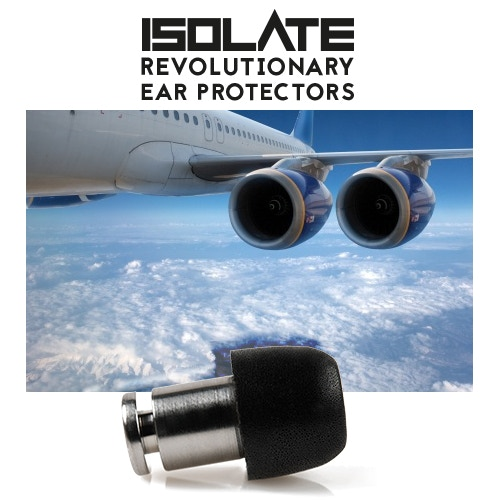 ISOLATE® from jet engine noise for stress free flying