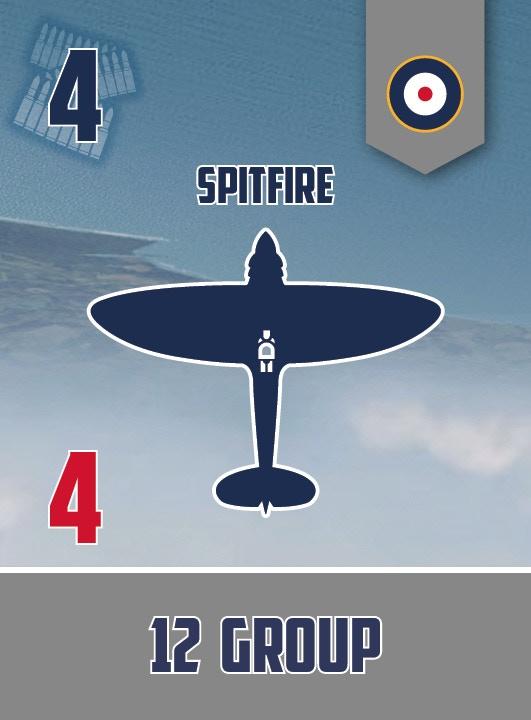 Spitfire squadron card