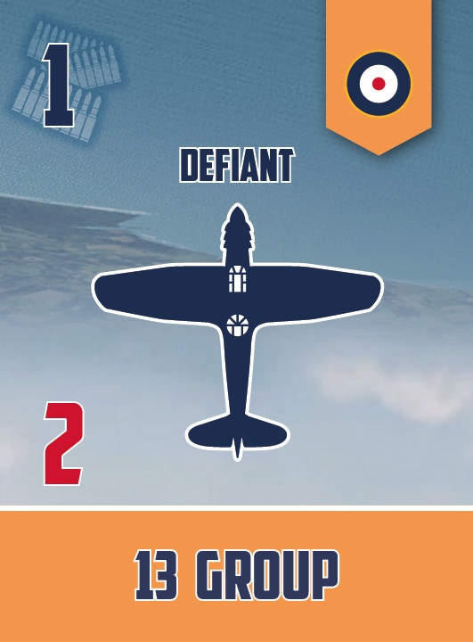 Bolton Paul Defiant squadron card