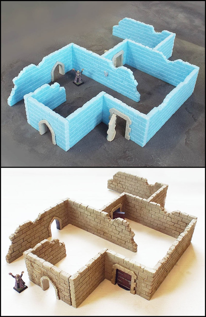 Example of Ruined Wall Skirmish Scenery