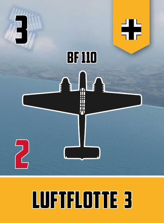 Bf 110 squadron card