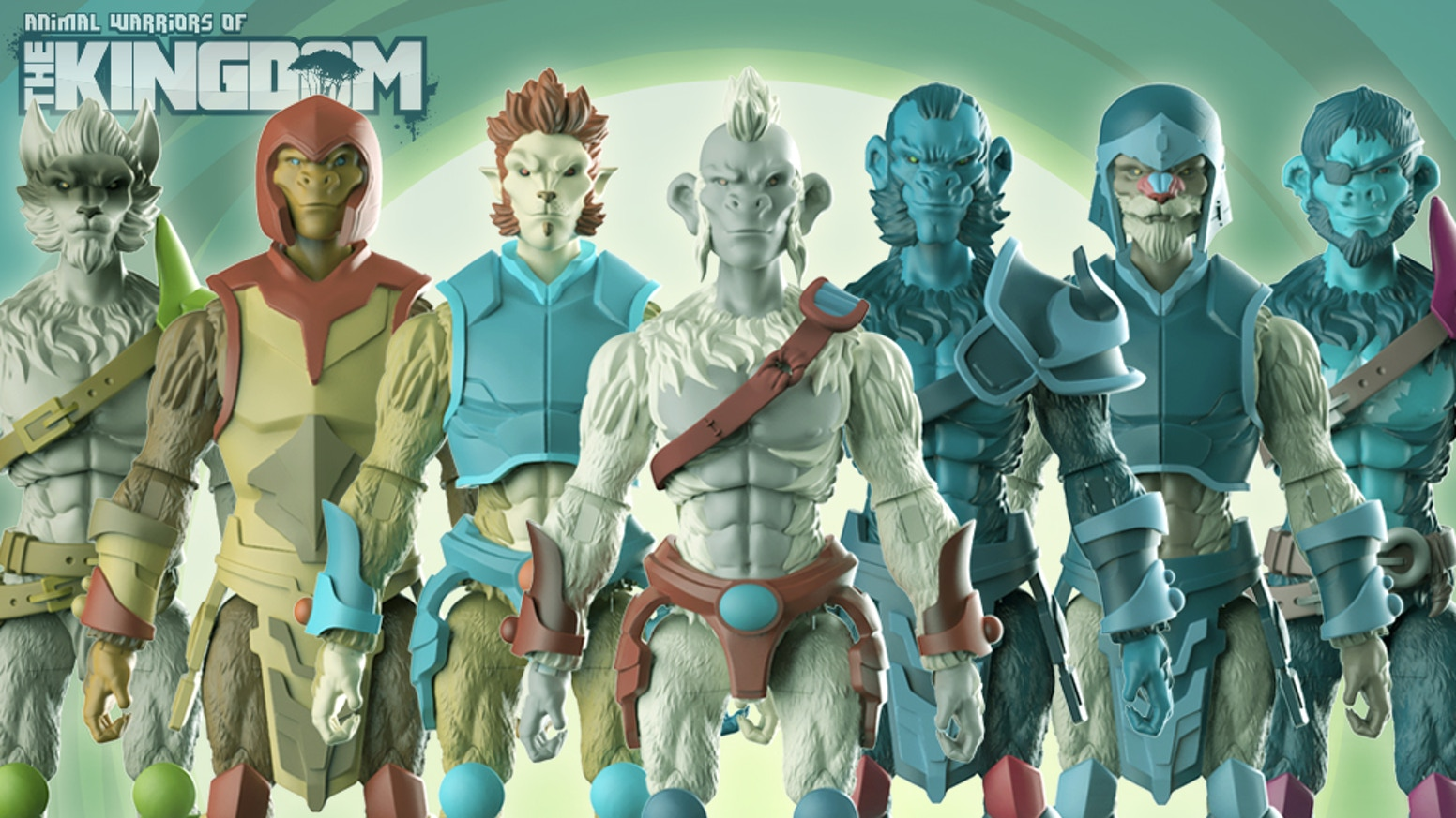 "A 4"" inch scale toy line inspired by the fun & joy of the mid 70's, 80's, and 90's action figure eras!"