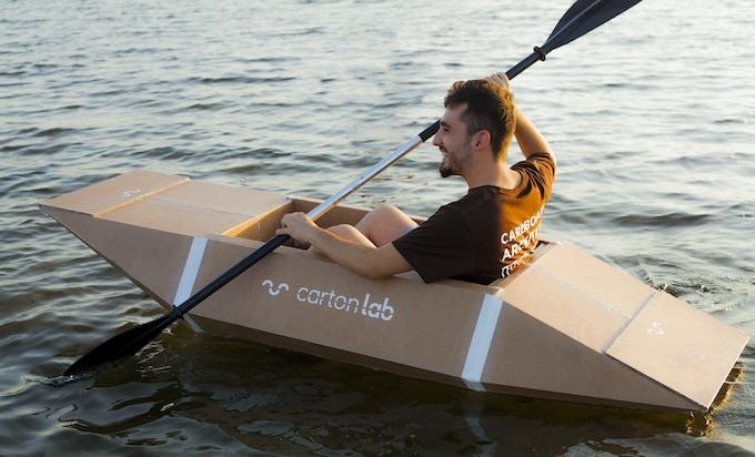 The cardboard Kayak by Carton Lab