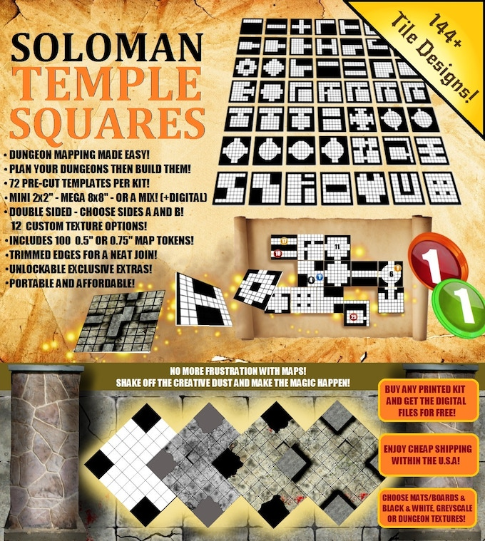 Soloman Temple Squares: Map Making made easy! | Cardboard
