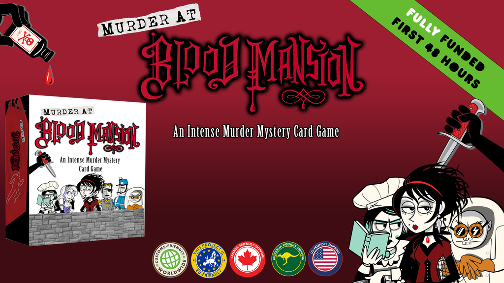 Murder at Blood Mansion: An intense murder mystery card game project video thumbnail